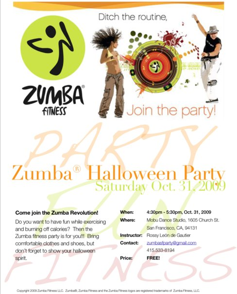 Zumba Halloween Party with Rossy and Alena