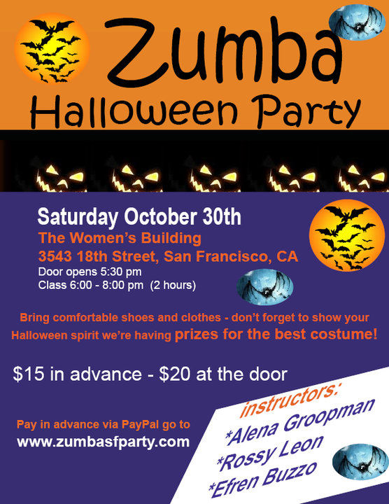 Zumba Halloween Party 2010, Zumba Fitness San Francisco California