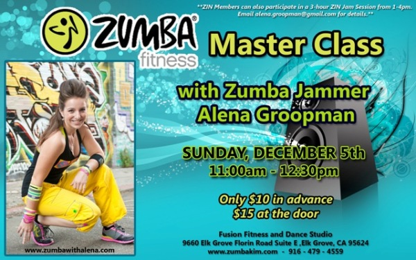 Zumba Master Class with Zumba Jammer Alena Groopman in Elk Grove, CA