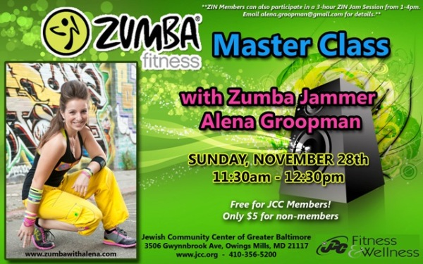 Zumba Master Class with Zumba Jammer Alena Groopman in Owings Mills, MD