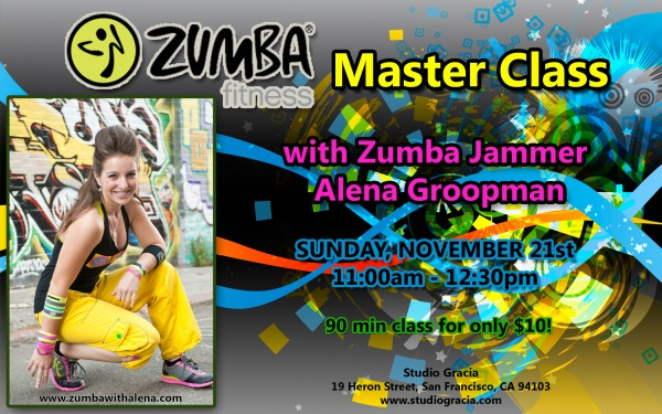 Zumba Master Class with Zumba Jammer Alena Groopman in San Francisco, CA