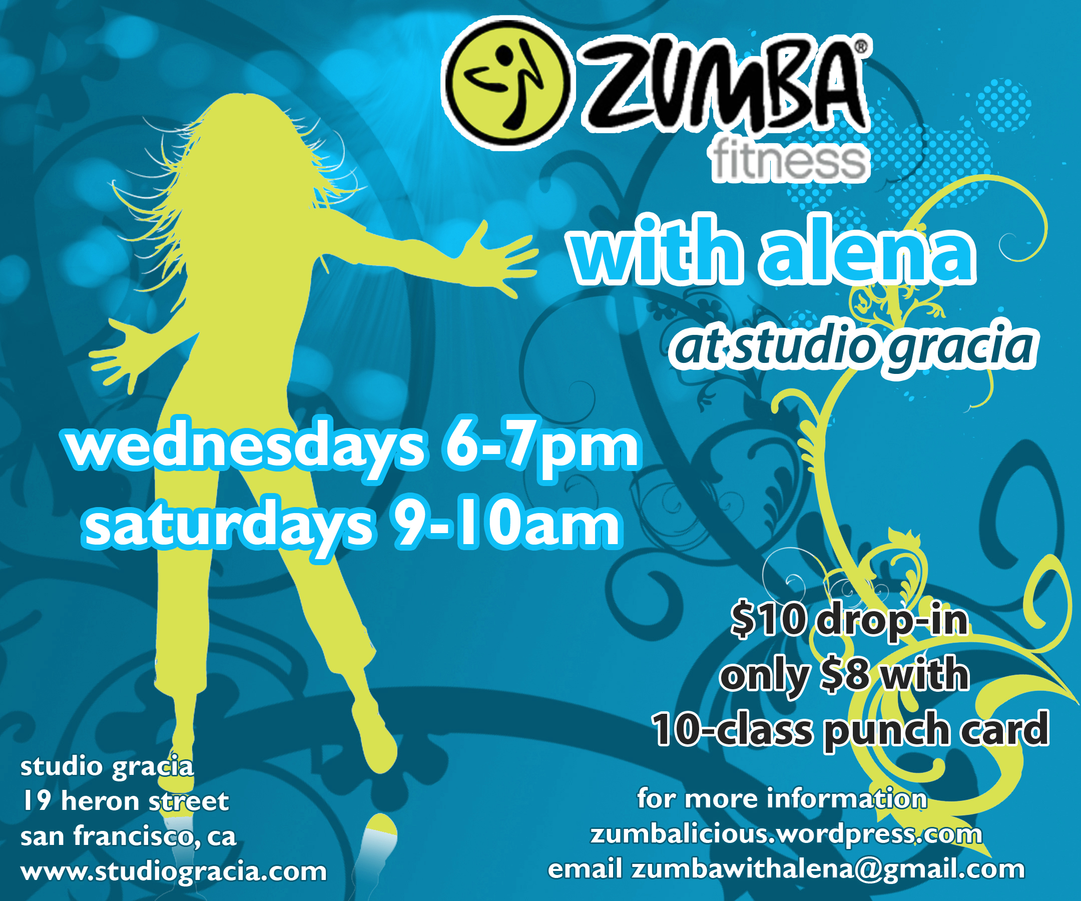 Zumba flyer design zumba flyers - Zumba Fitness With Alena