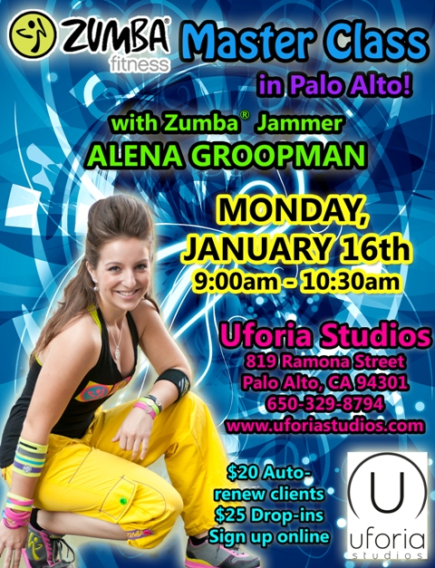 DRAFT V2 - Zumba Master Class with Alena at Uforia on Jan 16 2012