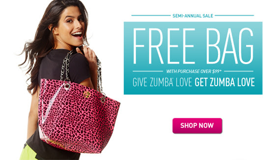 Free Bag when you shop the SEMI ANNUAL SALE at www.zumba.com
