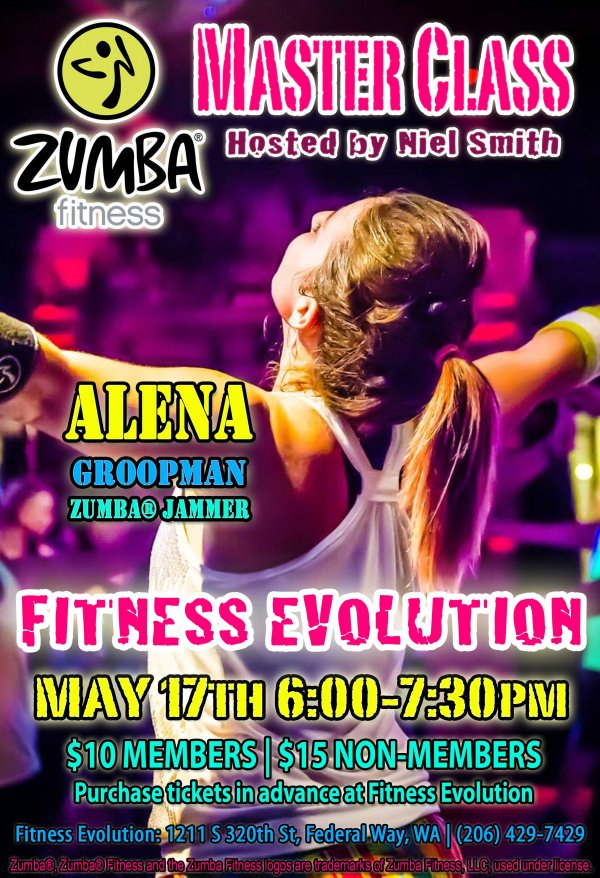 MAY 17, 2014 || Zumba Fitness Master Class in Federal Way, Washington