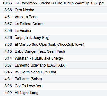 04.28.14    Track List from Tonight's Class!