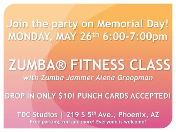 ZUMBA FITNESS CLASS TONIGHT!!! :D